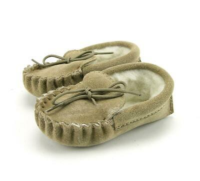 02139d284e7 Baby Lambswool Lined Moccasins Slippers - British Made - 0-12 months