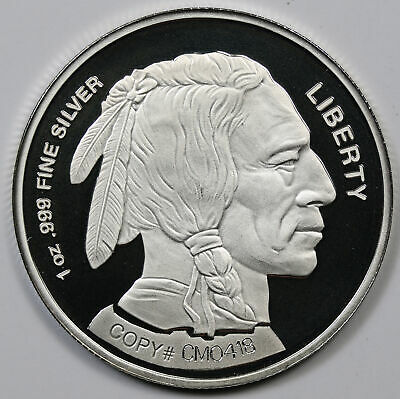 2002 Liberty Indian Head Buffalo Design .999 Fine Silver Round 1 oz