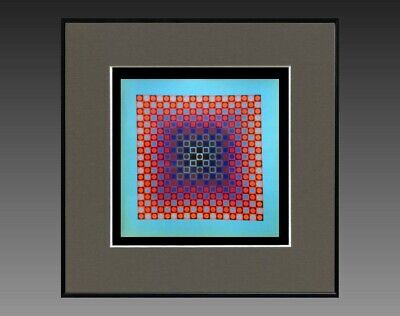 """Victor Vasarely (1906-1997) Ancienne Serigraphie """" Cynetique """" Vers 1970/75 (1)"""