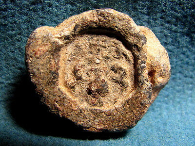 Byzantine Christian Lead Bulla with JERUSALEM Cross and Christian Judaea Motives