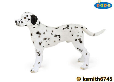 Papo BULL TERRIER solid plastic toy farm pet animal DOG NEW *
