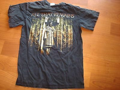 ALL THAT REMAINS   TOUR CONCERT   'USED ' shirt Sz SMALL