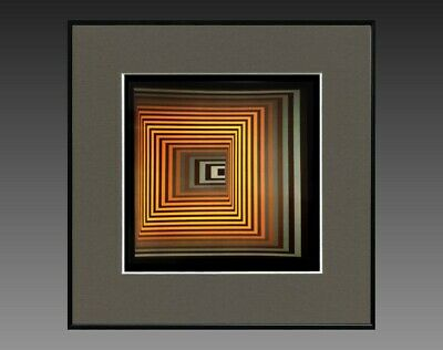 "Victor Vasarely (1906-1997) Ancienne Serigraphie "" Cynetique "" Vers 1970/75 (4)"