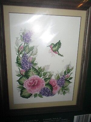 HUMMINGBIRD & FLORAL  ~ Bucilla Counted Cross Stitch Kit