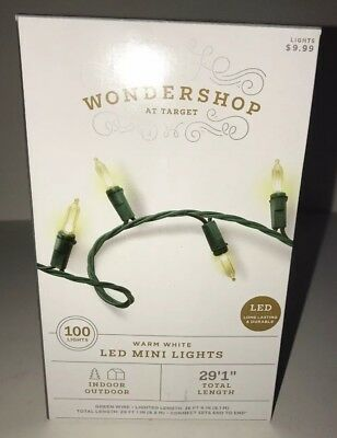 WONDERSHOP AT TARGET 100 LED Mini Lights WARM WHITE Indoor/Outdoor NEW Christmas