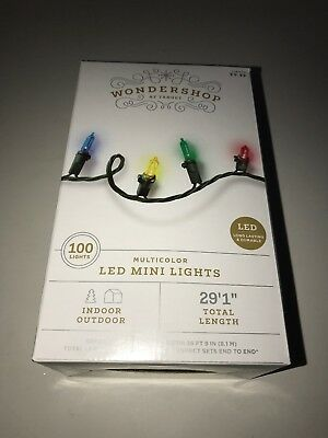 WONDERSHOP AT TARGET 100 LED Mini Lights MULTICOLOR Indoor/Outdoor NEW Christmas