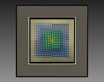 """Victor Vasarely (1906-1997) Ancienne Serigraphie """" Cynetique """" Vers 1970/75 (28)"""