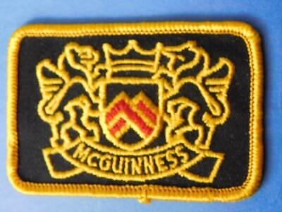 McGUINNESS COAT OF ARMS PATCH VINTAGE SOUVENIR BADGE COLLECTOR ADVERTISING