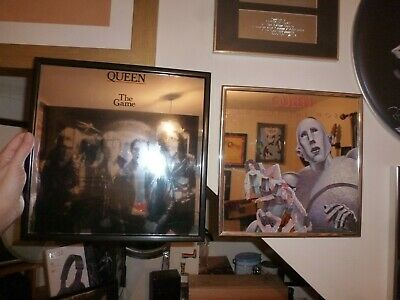 Queen, Freddie Mercury, Brian May, Roger Taylor  THE GAME promo MIRROR - RARE!