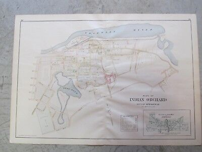 Indian Orchard City Ofspringfield, Ma. Map That Was Removed From The 1894 Atlas