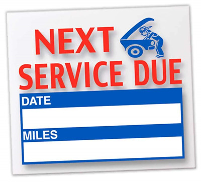 """Donkey Auto Products Generic Next Service Due Reminder Stickers """" Oil Changes"""