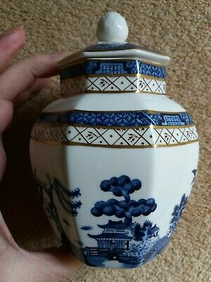 Royal Doulton Booths Real Old Willow Small Ginger Jar vgc