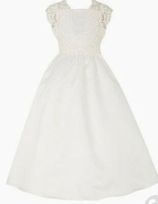 Monsoon Girls Estella Duchess Ivory Satin Party Bridal Dress Age 12-13 Bnwt