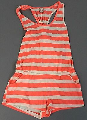 Arizona Women's Striped Racerback Cover Up Romper AN3 Pink Small NWT