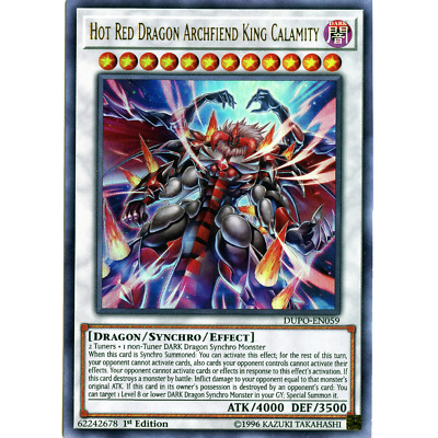 Hot Red Dragon Archfiend King Calamity - DUPO-EN059 - Ultra Rare - 1st Edition