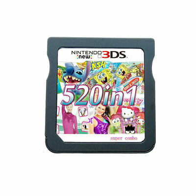 520 in 1 Game Games Cartridge Multicart For Nintendo DS NDS NDSL NDSi 2DS 3DS US