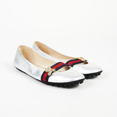 832a7c3a5 $590 GUCCI SYLVIE Red Velvet Ballet Flats Web Bow in box 8.5 9 39 ...