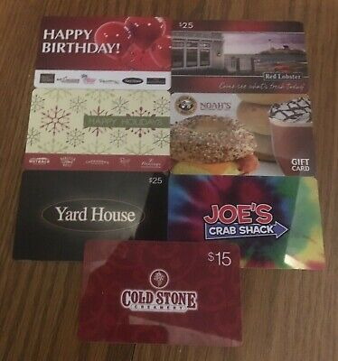 Lot of 7 Different Food & Restaurant Gift Cards -Collectible Only-