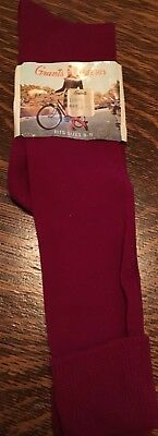 Vintage 1960/70s W.T. Grant Knee Highs Plum Color School Girl Socks NWT