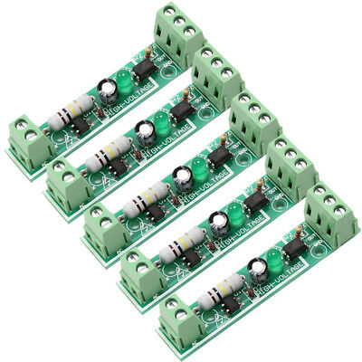 5Pcs 1-Channel Optocoupler Isolation Module Test Board Adaptive for PLC AC 220V