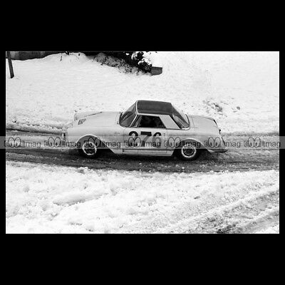 #pha.014100 Photo FACEL VEGA FACELLIA F2 RALLYE MONTE-CARLO 1961 Car Auto