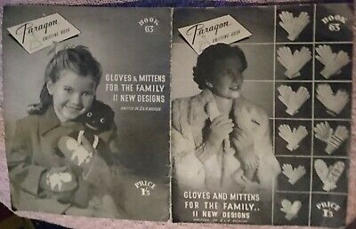 KNITTING PATTERN BOOKLET - GLOVES and MITTENS for the FAMILY - PARAGON VINTAGE