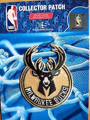"""Official NBA Milwaukee Bucks Primary Logo Iron or Sew On Patch Sm 2 1/2"""" by 3"""""""