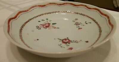 ANTIQUE old Chinese EXPORT PORCELAIN BOWL artwork Late 18th / Early19th Century