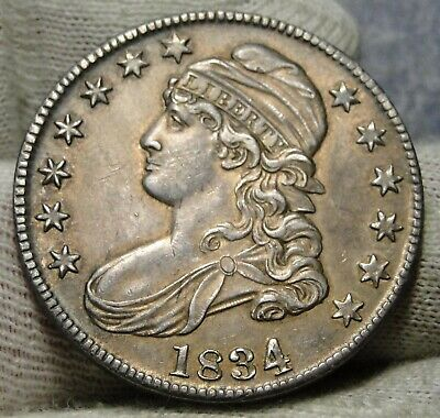 1834 Capped Bust Half Dollar 50 Cents - Very Nice Coin.. Free Shipping  (8156)