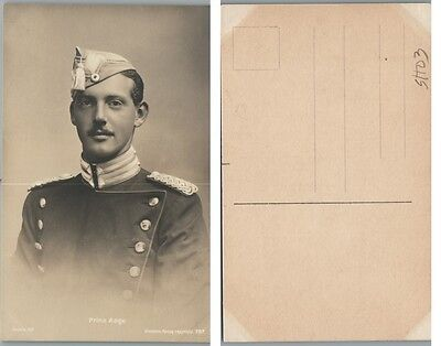 Antique Rppc Real Photo Postcard Prince Aage Of Denmark