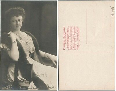 Antique Real Photo Postcard Duchess Sophie Charlotte Von Oldenburg Rppc