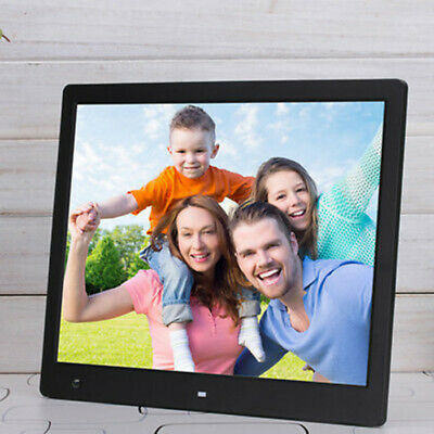 Digital Photo Frame LED Electronic Album Picture Player Clock W/Remote Control