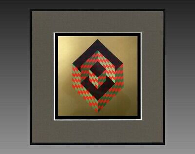 "Victor Vasarely (1906-1997) Ancienne Serigraphie "" Cynetique "" Vers 1970/75 (37)"