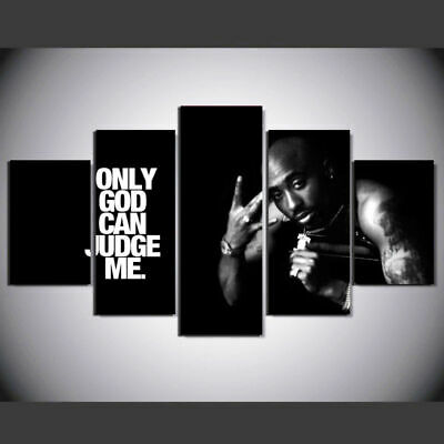 5 Piece Tupac Amaru Shakur HD Canvas Prints Painting Wall Art Home Decor