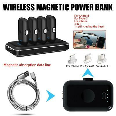 4 in1 Portable Magnetic Mobile Power Wireless Emergency 12800mAh Fast Charge Lot