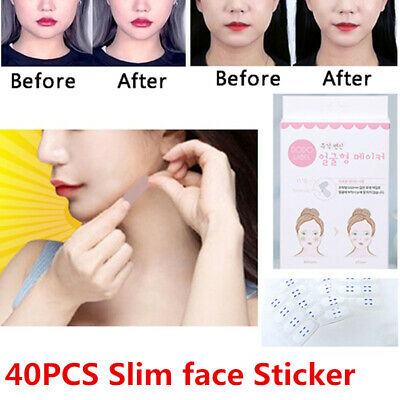 40Pcs/Box Instant Face Neck and Eye Lift Facelift Tapes Bands Sticker Slim Face
