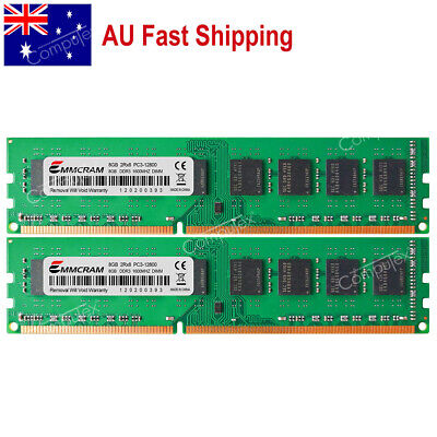 AU 16GB KIT 2x8GB DDR3-1600 PC3-12800 1.5V DIMM 240-Pin Memory For Dell HP Acer