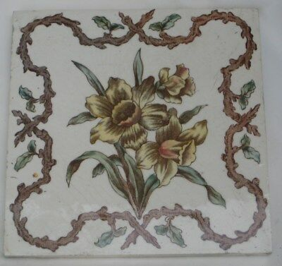 Colourful Period English  Tile Aesthetic Flower Decoration