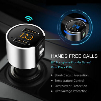 MP3 Player USB Stick KFZ Auto SD AUX Freisprechanlage Bluetooth FM Transmitter