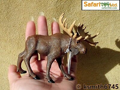 NEW CollectA BULL MOOSE solid plastic toy wild zoo woodland animal deer