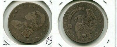 1836 Capped Bust Silver Half Dollar  Type Coin Vf 74M