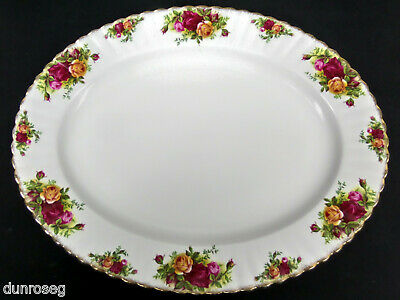 """OLD COUNTRY ROSES 38cm 15"""" OVAL SERVING PLATTER, 1st QUALITY, GC, ROYAL ALBERT"""