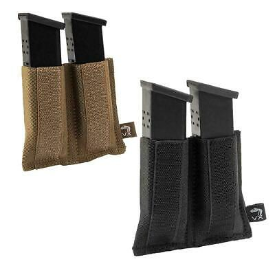 Viper VX Elastic Retain Double Pistol Mag Pouch Hook & Loop Airsoft VMSLVXDPIS