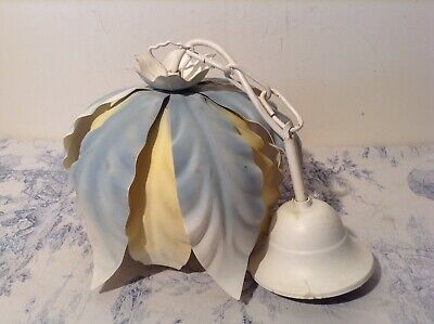 French/Italian Style Tole Ceiling Light - Toleware Light Shade (1987)