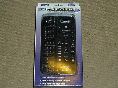 Sony Playstation 3 Ps3 Bluray Multimedia Wireless Remote Slide Out Keyboard New!