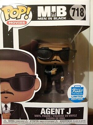 Funko POP! Movies MIB Agent J #718 Men In Black Funko Shop Exclusive IN HAND!!