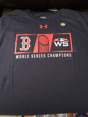 the latest a0ad5 112ac UNDER ARMOUR BOSTON RED SOX MLB 2018 World Series Champions T Shirt Size XL