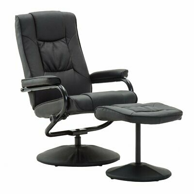 Memphis Swivel Recliner Chair Reclining Armchair With Free Matching Footstool UK