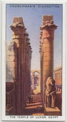 Ancient Egyptian Luxor Temple Nile River Vintage Trade Ad Card