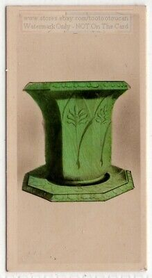 Antique Staffordshire Enamel Flower Vase Pottery Ceramic 1920s Trade Ad Card